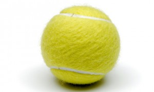 tennis ball to rub on ole of feet